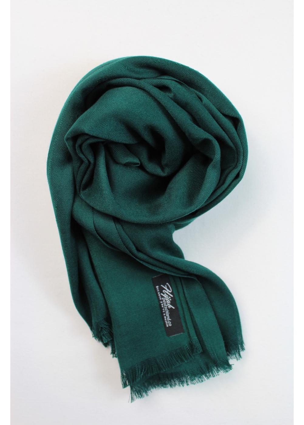 Pashmina hijab dark green
