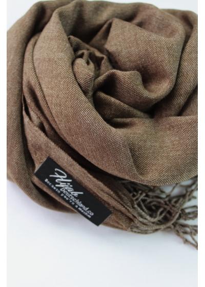 Pashmina hijab mottled brown 2