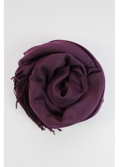 Pashmina hijab aubergine