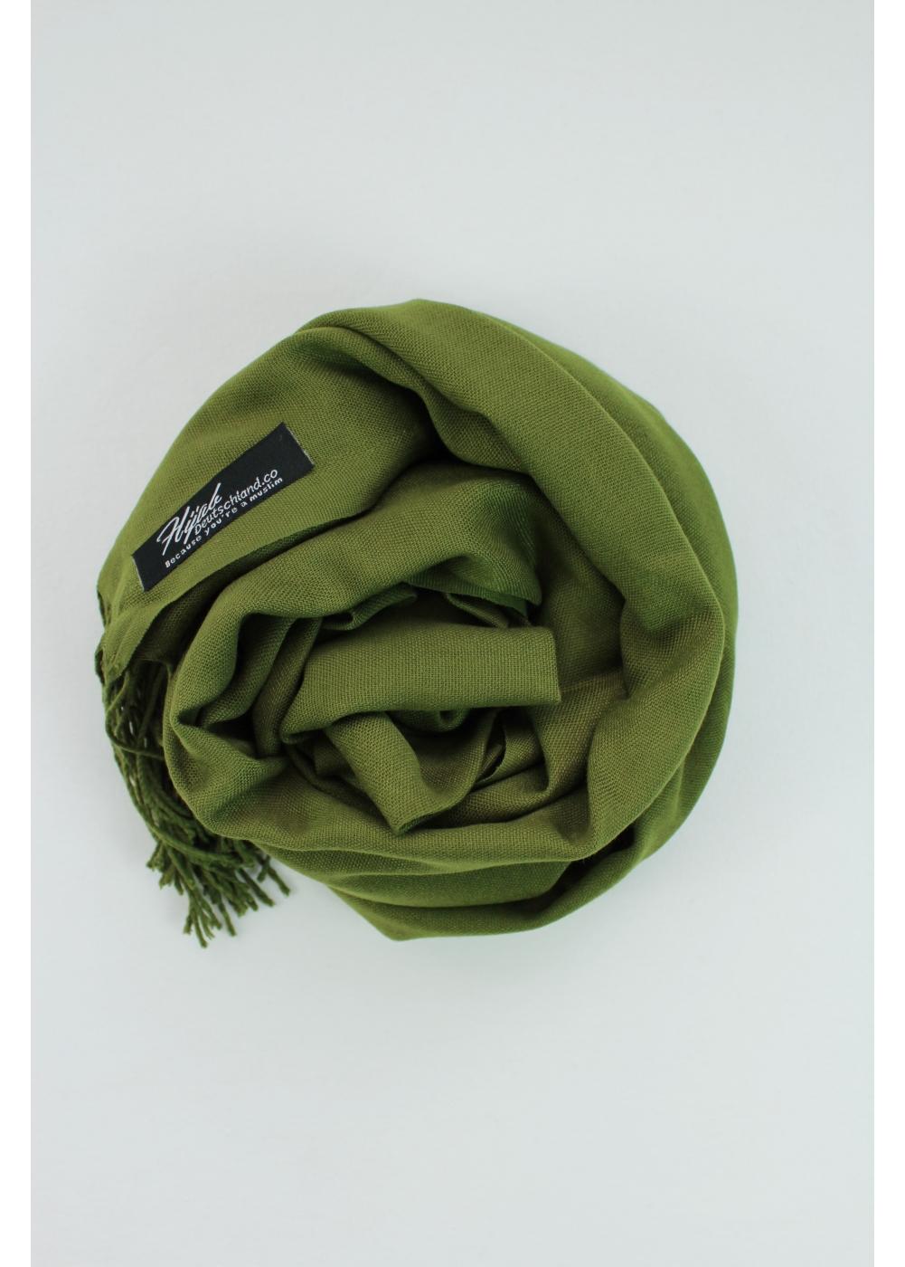 Pashmina hijab Green khaki