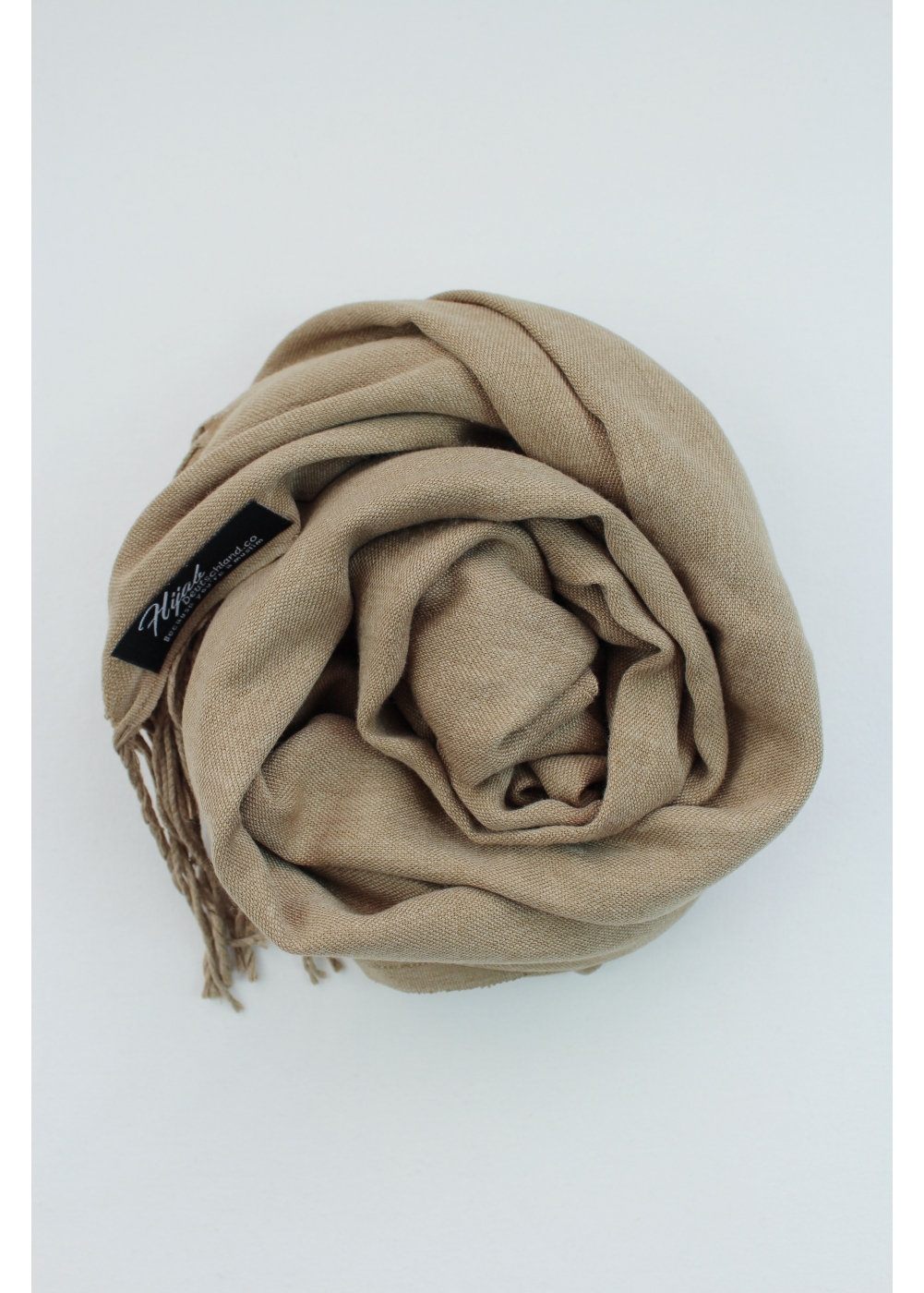 Pashmina hijab dusty beige