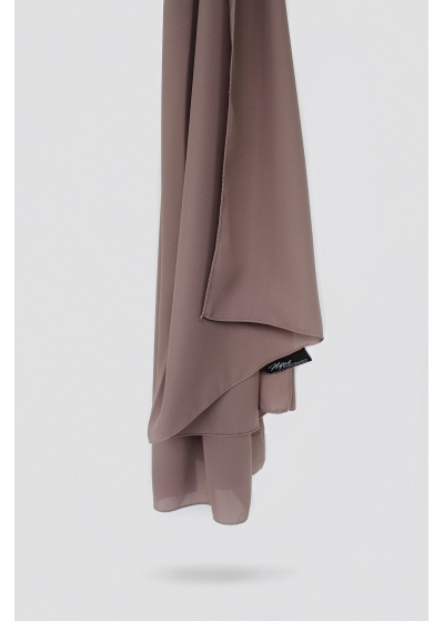 Luxus Kreppschal deep taupe