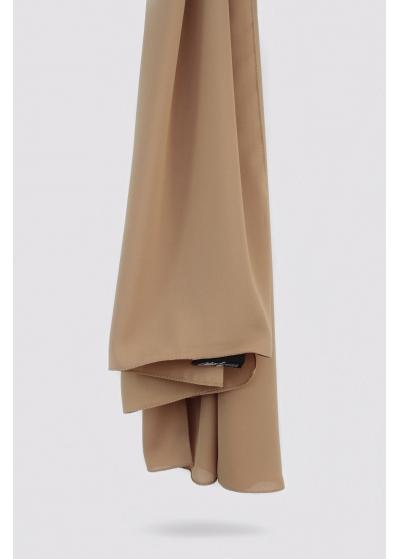 Luxe crepe hijab caramel