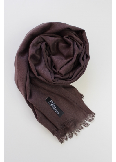 Pashmina hijab Purple brown