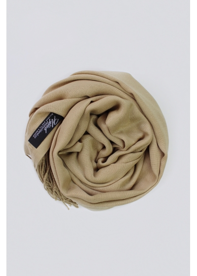 Pashmina hijab golden beige