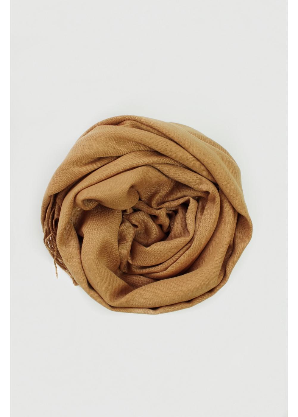 Pashmina hijab mustard brown