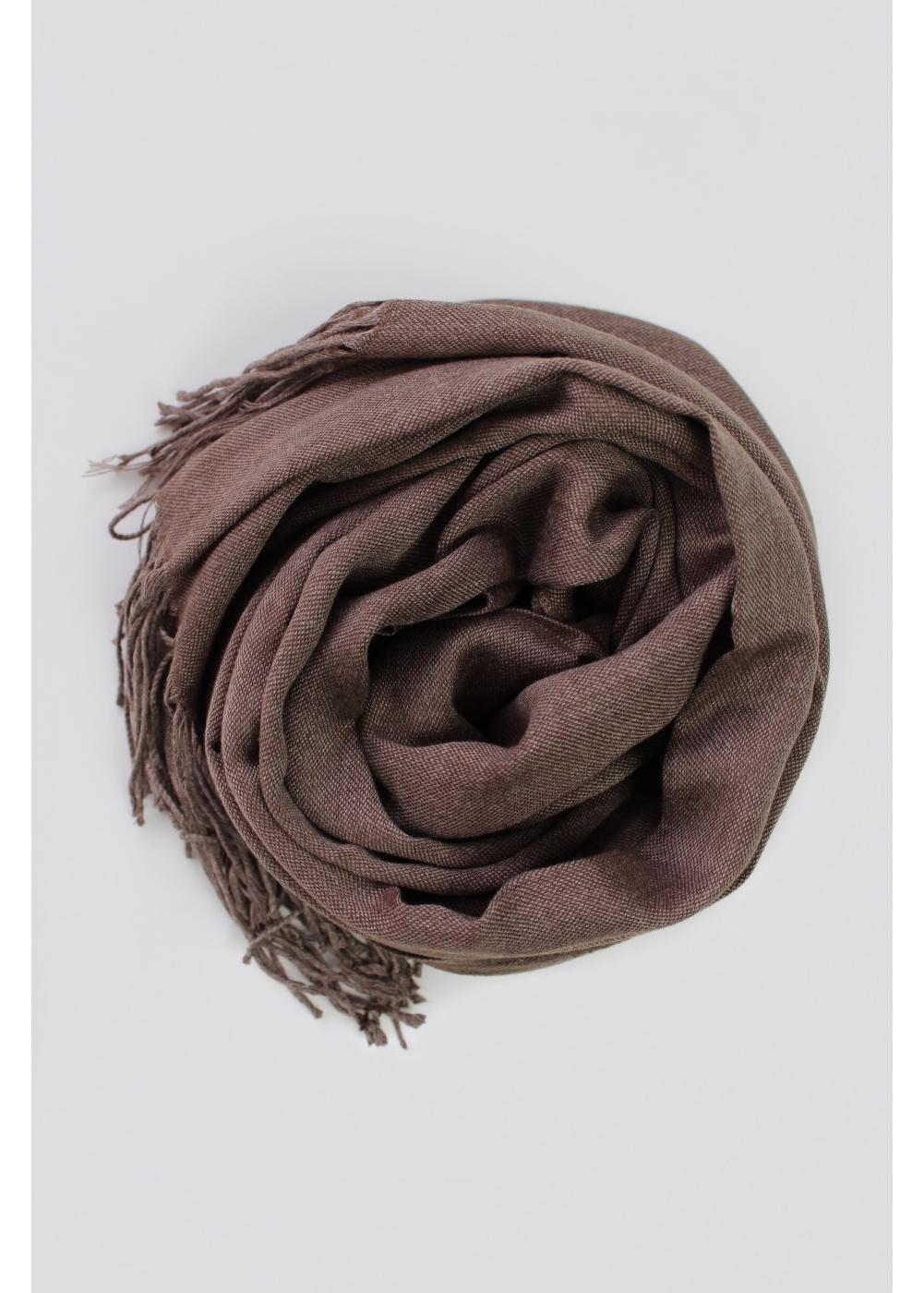 Pashmina hijab mottled brown
