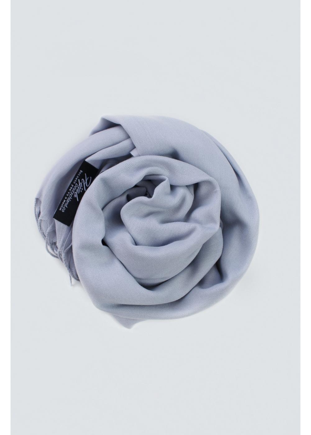 Pashmina hijab Silver blue