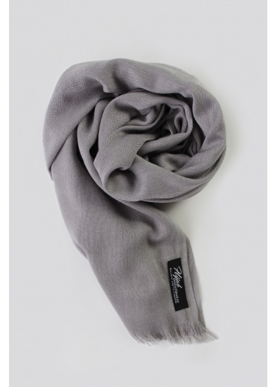 Grey Pashmina Scarf without tassels