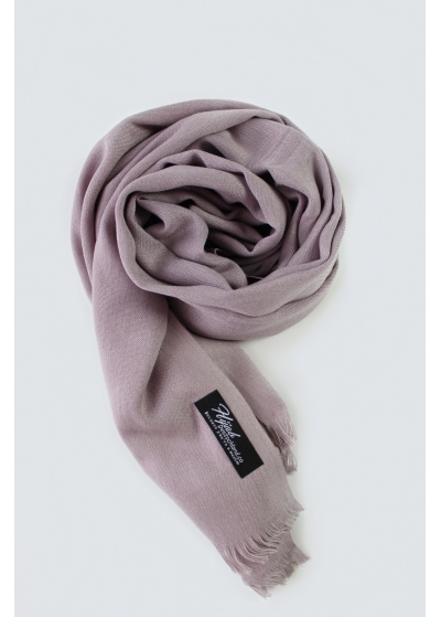 Rose grey pashmina scarf without tassels