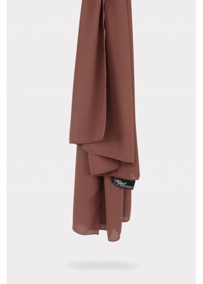 Luxe crepe hijab rose brown