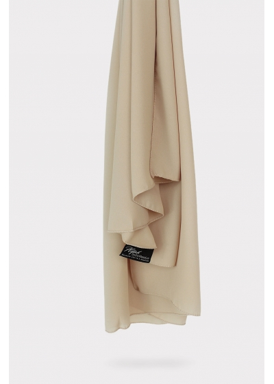 Luxe crepe hijab sand