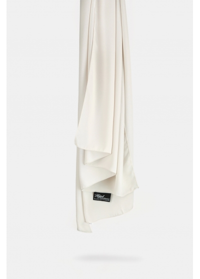 Luxe crepe pearl white