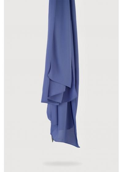 Luxe crepe denim blue