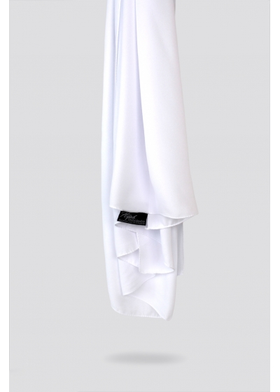 Luxe crepe hijab white