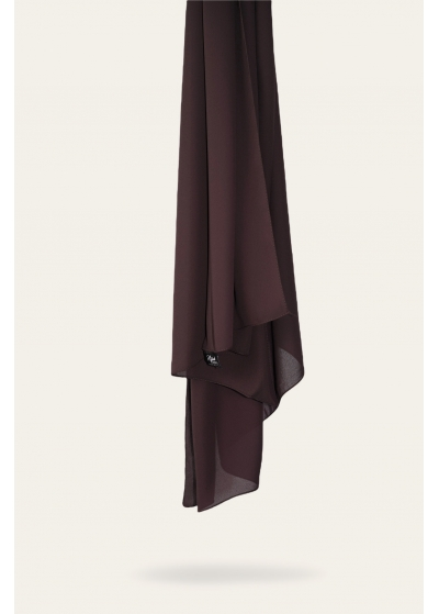 Luxe crepe hijab coffee